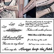 abordables Tatuajes Temporales-3 pcs Los tatuajes temporales Serie de mensajes Ecológica / Nuevo diseño Artes de cuerpo Cuerpo / brazo / Pecho / Tatuajes temporales estilo calcomanía / Pegatina tatuaje