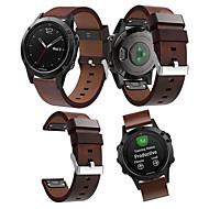 Недорогие Аксессуары для смарт-часов-Ремешок для часов для Fenix 5 Garmin Кожаный ремешок Кожа Повязка на запястье