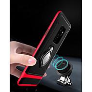 Недорогие Чехлы и кейсы для Galaxy S9 Plus-Кейс для Назначение SSamsung Galaxy S9 Plus со стендом / Кольца-держатели Кейс на заднюю панель броня Твердый ТПУ для S9 Plus