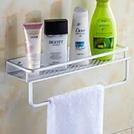 お買い得  浴室用小物-浴室棚 新デザイン / クール コンテンポラリー アルミ 1個 壁式