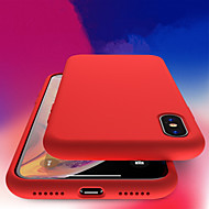 Недорогие Кейсы для iPhone 8 Plus-Кейс для Назначение Apple iPhone XR / iPhone XS Max Защита от удара / Прозрачный Кейс на заднюю панель Однотонный Мягкий ТПУ для iPhone XS / iPhone XR / iPhone XS Max