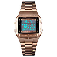 cheap -SKMEI Men's Sport Watch Wrist Watch Digital 30 m Water Resistant / Water Proof Alarm Calendar / date / day Stainless Steel Band Digital Casual Fashion Black / Silver / Gold - Light Blonde Golden Rose