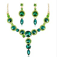 cheap -Women's Multicolor Crystal Classic Jewelry Set - Fashion Include Bridal Jewelry Sets Green / Blue / Champagne For Wedding Party