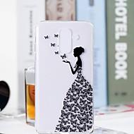Недорогие Чехлы и кейсы для Galaxy S9-Кейс для Назначение SSamsung Galaxy S9 Plus / S9 Прозрачный / С узором Кейс на заднюю панель Бабочка / Соблазнительная девушка Мягкий ТПУ для S9 / S9 Plus / S8 Plus