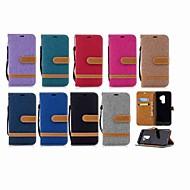 Недорогие Чехлы и кейсы для Galaxy S8 Plus-Кейс для Назначение SSamsung Galaxy S9 Plus / S8 Кошелек / Бумажник для карт / со стендом Чехол Однотонный Твердый текстильный для S9 / S9 Plus / S8 Plus