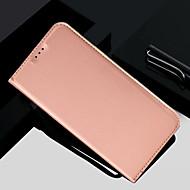 Недорогие Чехлы и кейсы для Galaxy S7 Edge-Кейс для Назначение SSamsung Galaxy S9 Plus / S9 Бумажник для карт / со стендом / Флип Чехол Однотонный Твердый Кожа PU для S9 / S9 Plus / S8 Plus