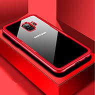 Недорогие Чехлы и кейсы для Galaxy S-Кейс для Назначение SSamsung Galaxy S9 Plus / S9 Защита от удара / Прозрачный Кейс на заднюю панель Однотонный Твердый Закаленное стекло для S9 / S9 Plus / S8 Plus