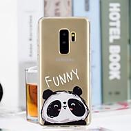 Недорогие Чехлы и кейсы для Galaxy S8-Кейс для Назначение SSamsung Galaxy S9 Plus / S9 Прозрачный / С узором Кейс на заднюю панель Панда Мягкий ТПУ для S9 / S9 Plus / S8 Plus