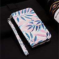 Недорогие Чехлы и кейсы для Galaxy S7 Edge-Кейс для Назначение SSamsung Galaxy S9 Plus / S9 Кошелек / Бумажник для карт / со стендом Чехол Растения Твердый Кожа PU для S9 / S9 Plus / S8 Plus
