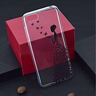 preiswerte Handyhüllen-Hülle Für Huawei Y9 (2018)(Enjoy 8 Plus) / Y6 (2017)(Nova Young) Transparent / Muster Rückseite Schmetterling / Sexy Lady Weich TPU für Y9 (2018)(Enjoy 8 Plus) / Huawei Y6 (2017)(Nova Young) / Huawei