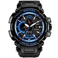 levne -SMAEL Pánské Sportovní hodinky Digitální hodinky japonština Japonské Quartz Černá 50 m Voděodolné Kalendář Chronograf Analog - Digitál Na běžné nošení Módní - Černá Černá / Modrá / Stopky / Svítící