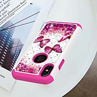 Недорогие Кейсы для iPhone 8-Кейс для Назначение Apple iPhone X / iPhone 8 Защита от удара / Стразы / С узором Кейс на заднюю панель Бабочка Твердый ПК для iPhone X / iPhone 8 Pluss / iPhone 8