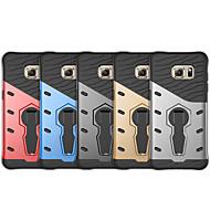 Недорогие Чехлы и кейсы для Galaxy S-Кейс для Назначение SSamsung Galaxy S7 edge Защита от удара / со стендом Кейс на заднюю панель Однотонный Твердый ПК для S7 edge