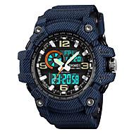 cheap -SKMEI Men's Sport Watch Military Watch Japanese Digital 50 m Water Resistant / Water Proof Alarm Calendar / date / day PU Band Analog-Digital Fashion Colorful Black / Blue / Grey - Black Gray Blue