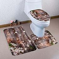 abordables Alfombras y moquetas-3 Piezas Modern Esteras de Baño Poliéster Elástico Tejido de 100g / m2 Geométrico Irregular Baño Nuevo diseño