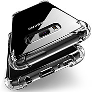 Недорогие Чехлы и кейсы для Galaxy S9 Plus-Кейс для Назначение SSamsung Galaxy S9 / S8 Защита от удара / Прозрачный Кейс на заднюю панель Однотонный Мягкий ТПУ для S9 / S9 Plus / S8 Plus