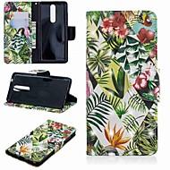 お買い得  携帯電話ケース-ケース 用途 Nokia Nokia 5.1 / Nokia 3.1 ウォレット / カードホルダー / スタンド付き フルボディーケース 植物 ハード PUレザー のために Nokia 5.1 / Nokia 3.1 / Nokia 2.1