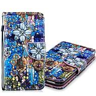 Недорогие Кейсы для iPhone 8 Plus-Кейс для Назначение Apple iPhone XR / iPhone XS Max Кошелек / Бумажник для карт / со стендом Чехол Цветы Твердый Кожа PU для iPhone XS / iPhone XR / iPhone XS Max
