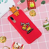 お買い得  携帯電話ケース-ケース 用途 Huawei P20 Pro / P20 lite パターン バックカバー クリスマス ソフト TPU のために Huawei P20 / Huawei P20 Pro / Huawei P20 lite