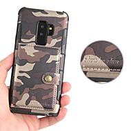 Недорогие Чехлы и кейсы для Galaxy S9 Plus-Кейс для Назначение SSamsung Galaxy S9 Plus / S9 Бумажник для карт / Магнитный Кейс на заднюю панель Однотонный Твердый Кожа PU для S9 / S9 Plus / S8 Plus