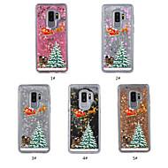 Недорогие Чехлы и кейсы для Galaxy S-Кейс для Назначение SSamsung Galaxy S9 Plus / S9 Движущаяся жидкость / Прозрачный / С узором Кейс на заднюю панель Рождество Твердый ТПУ для S9 / S9 Plus