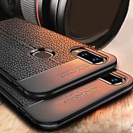 お買い得  携帯電話ケース-ケース 用途 Huawei P20 lite / P10 Lite 耐衝撃 / エンボス加工 バックカバー ソリッド ソフト TPU のために Huawei P20 / Huawei P20 Pro / Huawei P20 lite