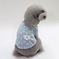 levne -Psi Trička Oblečení pro psy Se vzorem / Postavička Žlutá / Modrá / Růžová Bavlna Kostým Pro domácí mazlíčky Unisex Sweet Style / minimalistický styl