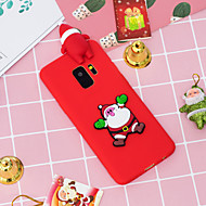 Недорогие Чехлы и кейсы для Galaxy S7-Кейс для Назначение SSamsung Galaxy S9 Plus / S9 С узором Кейс на заднюю панель Рождество Мягкий ТПУ для S9 / S9 Plus / S8 Plus