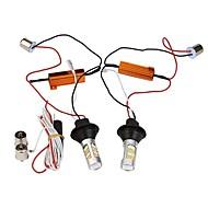 Недорогие Сигнальные огни для авто-Светодиодная лампа с подсветкой 2pcs 1156 bau15s 42leds double color white&желтый дневной пробег легкий автомобиль drl указатель поворота dc12v