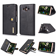 お買い得  携帯電話ケース-ケース 用途 Huawei Mate 10 / Mate 9 カードホルダー / 耐衝撃 / フリップ フルボディーケース ソリッド ハード PUレザー のために Mate 10 / Mate 9