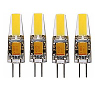 povoljno -SENCART 4kom 4 W LED svjetla s dvije iglice 350 lm G4 T 1 LED zrnca COB Ukrasno Toplo bijelo Bijela 12 V