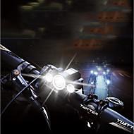お買い得  フラッシュライト/ランタン/ライト-自転車用ヘッドライト LED 自転車用ライト サイクリング 防水, パータブル, 調整可 何のバッテリーはありません 400 lm バッテリー駆動 ホワイト キャンプ / ハイキング / ケイビング / サイクリング