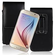 Недорогие Чехлы и кейсы для Galaxy S6 Edge Plus-Кейс для Назначение SSamsung Galaxy S9 Plus / S8 Plus Флип Чехол Однотонный Твердый Кожа PU для S9 / S9 Plus / S8 Plus