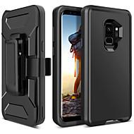 Недорогие Чехлы и кейсы для Galaxy S-Кейс для Назначение SSamsung Galaxy S9 Защита от удара / Матовое / Wireless Charging Receiver Case Чехол Однотонный Твердый ТПУ / ПК для S9