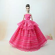 Hercegnő Ruhák mert Barbie baba Csipke Szatén Ruha mert Lány Doll Toy