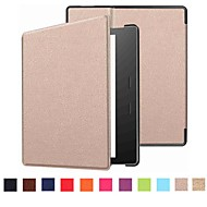 abordables Accesorios para Kindle-Funda Para Amazon Kindle Oasis 2 (2nd Generation, versión 2017) Flip Funda de Cuerpo Entero Un Color Dura Cuero de PU para Kindle Oasis 2(2nd Generation, 2017 Release)