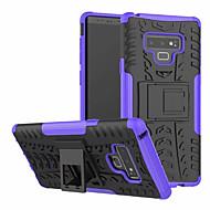 Недорогие Чехлы и кейсы для Galaxy Note-Кейс для Назначение SSamsung Galaxy Note 9 со стендом Кейс на заднюю панель броня Твердый ПК для Note 9