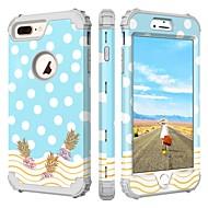 Недорогие Кейсы для iPhone 8 Plus-BENTOBEN Кейс для Назначение Apple iPhone 8 Plus / iPhone 7 Plus Защита от удара / С узором Чехол Города / Вид на город / Цветы Твердый Силикон / ПК для iPhone 8 Pluss / iPhone 7 Plus