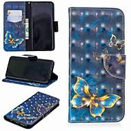 Недорогие Чехлы и кейсы для Galaxy S-Кейс для Назначение SSamsung Galaxy S9 Plus / S8 Кошелек / Бумажник для карт / со стендом Чехол Бабочка Твердый Кожа PU для S9 / S9 Plus / S8 Plus