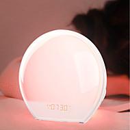 abordables Lámparas LED Novedosas-Brelong multifunción reloj despertador electrónico luz nocturna colorida para despertar regulaciones europeas 1 pc