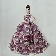 abordables Muñecas y Peluches-Bonito Vestir por Muñeca Barbie  Poliéster Vestido por Chica de muñeca de juguete