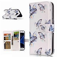 Недорогие Чехлы и кейсы для Galaxy S9 Plus-Кейс для Назначение SSamsung Galaxy S9 Plus / S8 Кошелек / Бумажник для карт / со стендом Чехол Бабочка Твердый Кожа PU для S9 / S9 Plus / S8 Plus