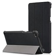 お買い得  携帯電話ケース-ケース 用途 Lenovo Tab 7 耐埃 / フリップ / オートスリープ / ウェイクアップ フルボディーケース ソリッド ハード PUレザー のために Lenovo Tab 7