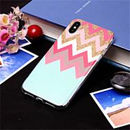 Недорогие Кейсы для iPhone 8 Plus-Кейс для Назначение Apple iPhone XS / iPhone XS Max С узором Кейс на заднюю панель Полосы / волосы Мягкий ТПУ для iPhone XS / iPhone XR / iPhone XS Max