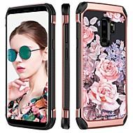 Недорогие Чехлы и кейсы для Galaxy S9 Plus-BENTOBEN Кейс для Назначение SSamsung Galaxy S9 Plus Защита от удара / Покрытие / С узором Кейс на заднюю панель Цветы Твердый ТПУ / ПК для S9 Plus