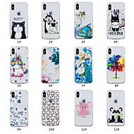 Недорогие Кейсы для iPhone 8 Plus-Кейс для Назначение Apple iPhone X / iPhone 8 Рельефный / С узором Кейс на заднюю панель Животное / дерево / Цветы Мягкий ТПУ для iPhone X / iPhone 8 Pluss / iPhone 8