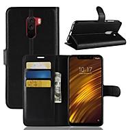 Funda Para Xiaomi Xiaomi Pocophone F1 / Redmi 6 / Mi 8 Cartera / Soporte de Coche / Flip Funda de Cuerpo Entero Un Color Dura Cuero de PU para Xiaomi Redmi Note 5 Pro / Xiaomi Redmi Note 6 / Xiaomi