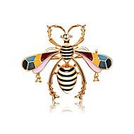 お買い得  -女性用 ダイヤモンド 彫刻オブジェ ブローチ  -  ミツバチ 自然, ロマンチック, 甘い ブローチ 混色 用途 デート / ストリート