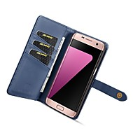 お買い得  -DG.MING ケース 用途 Samsung Galaxy S7 edge ウォレット / カードホルダー / スタンド付き フルボディーケース ソリッド ハード PUレザー のために S7 edge