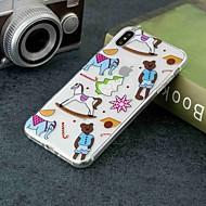 Недорогие Кейсы для iPhone 8 Plus-Кейс для Назначение Apple iPhone XR / iPhone XS Max Прозрачный / С узором Кейс на заднюю панель Плитка Мягкий ТПУ для iPhone XS / iPhone XR / iPhone XS Max